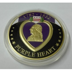 MEDALLA-MONEDA (COIN) CORAZON PURPURA U.S.A.