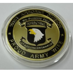 MEDALLA-MONEDA (COIN)  101 AEROTRANSPORTADA US. ARMY
