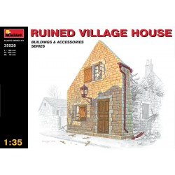 Cod.min35520 RUINED VILLAGE HOUSE Esc.1/35