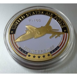MEDALLA/MONEDA (COIN) F-105 THUNDERCHIEF US. AIR FORCE