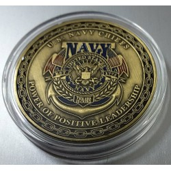 MEDALLA/MONEDA (COIN) US. NAVY CHIEF