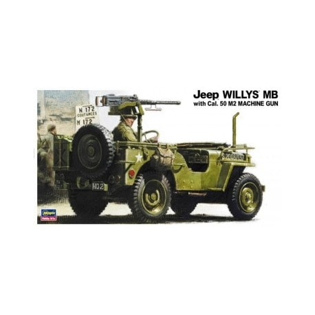 Cod.has24502 JEEP WILLYS MB WITH CAL.50 M2 Esc.1/24