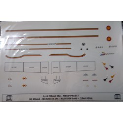SET DE CALCAS HQ MIRAGE 5BA MIRSHIP PROJECT Esc.1/48