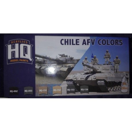 SET DE PINTURA ACRILICA HQ COLORES TANQUES Y VEHICULOS BLINDADOS EJERCITO DE CHILE