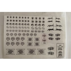 SET CALCAS HQ INSIGNIA GENERAL FACH. ESC 1/72 - 1/48