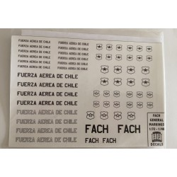 SET CALCAS HQ FACH GENERAL MARKINGS 1/72 - 1/48