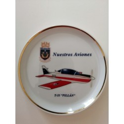 PLATO DECORATIVO FUERZA AEREA DE CHILE, T-35 PILLAN