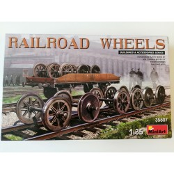 COD. MIN35607 RAILROAD WHEELS. ESC 1/35
