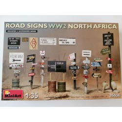 MOD. MIN35604 ROAD SIGNS WWII NORTH AFRICA. ESC 1/35